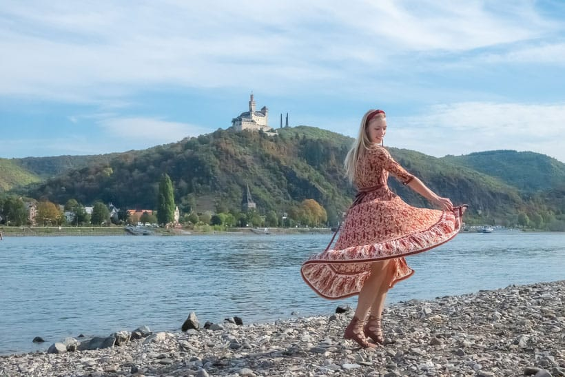 Best Castles and Rhine Towns in the Rhine River Valley, Dancing on the Rhine with castle in the background
