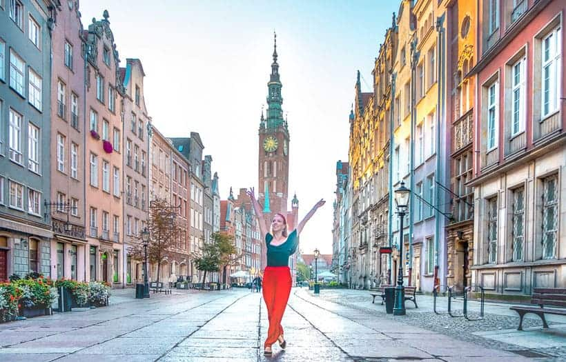 the best self-guided free walking tour of gdansk poland, walking the streets of gdansk
