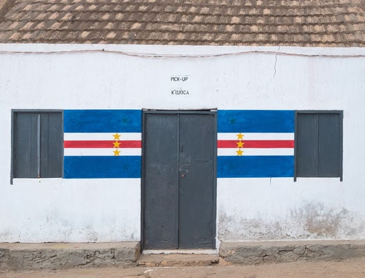 house front in maio island cabo verde