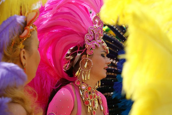 best things to do in trinidad and tobago, brightly dressed carnival dancer