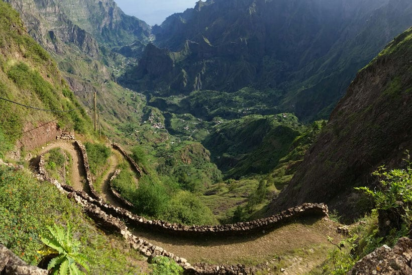 hiking in santo antao, dazzling views to paul valley