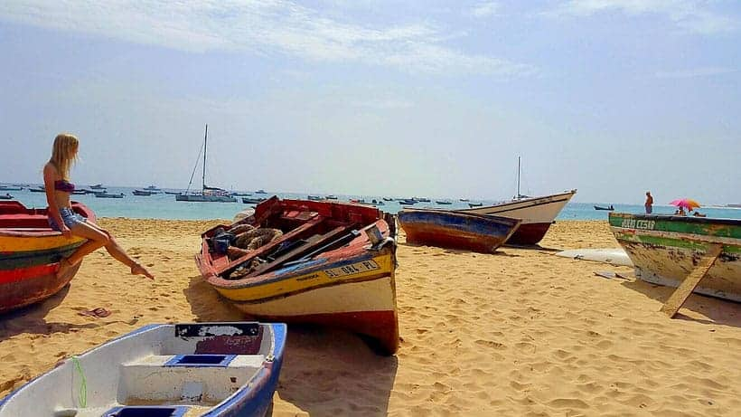 santa maria, sal island, cape verde, beach, cabo verde, holidays, vacation, where to stay in cape verde