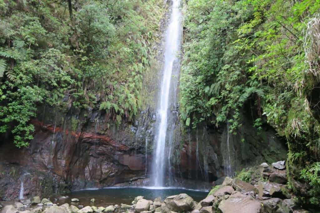 top things to do in madeira, hiking in madeira, 25 fontes, water fall