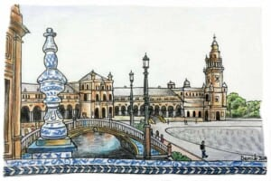 Top 10 Things To Do in Seville – an Illustrated Walk