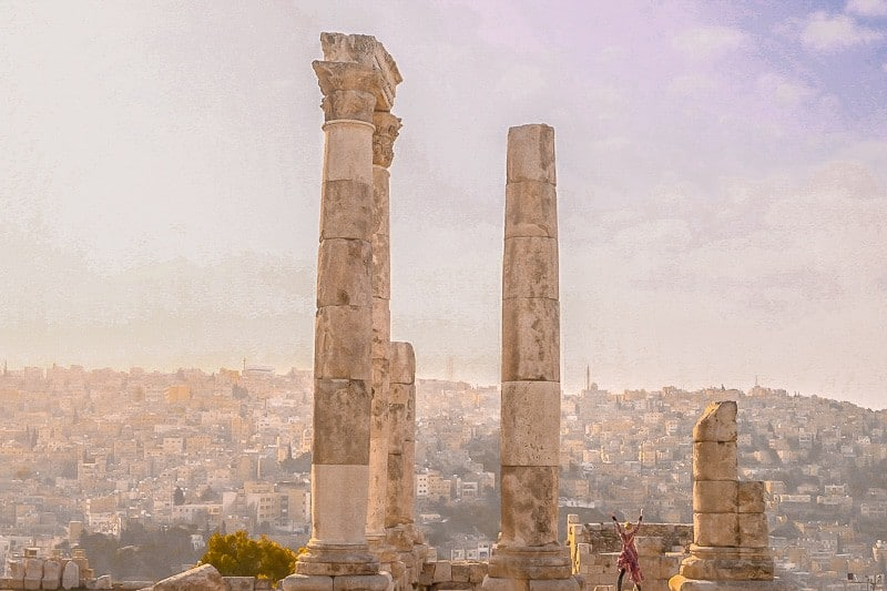things to do in Amman, Temple of Hercules at the Amman Citadel