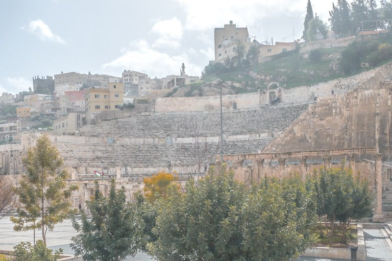 The best places to visit in Amman Jordan, Looking up at the Roman Theatre