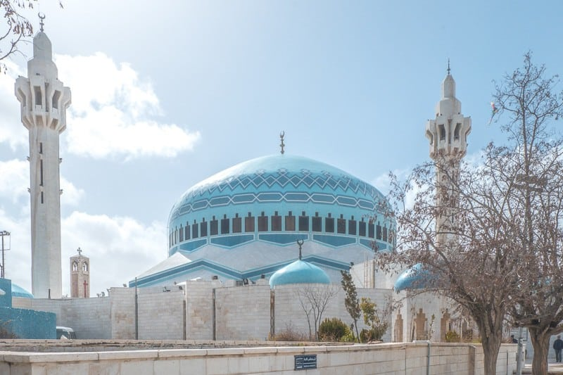 top tourist attractions in amman jordan, view of the king abdullah mosque