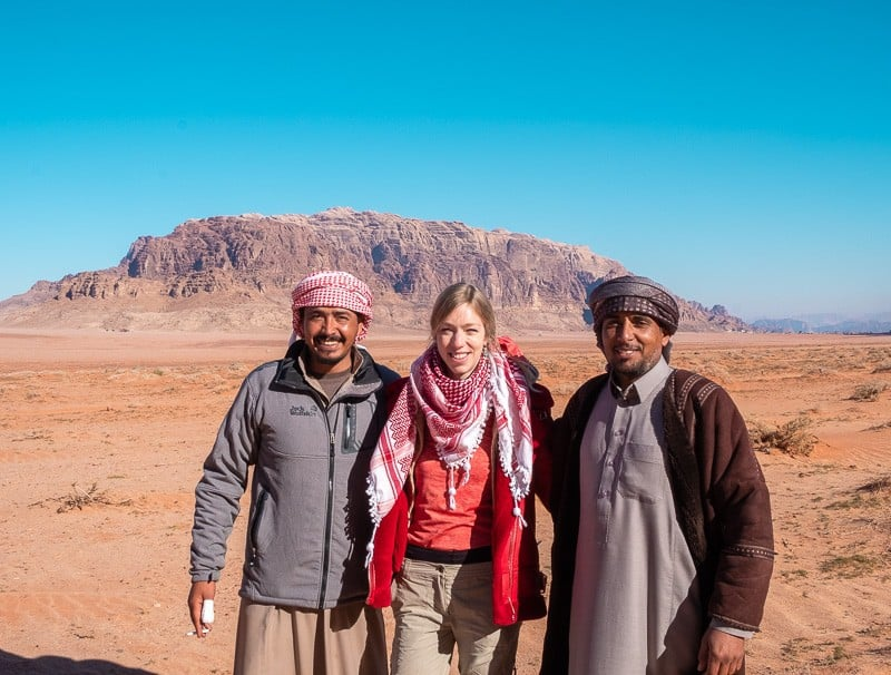With Hussein and Mohammed from Wadi Rum Quiet Village, wadi rum highlights, best wadi rum tours