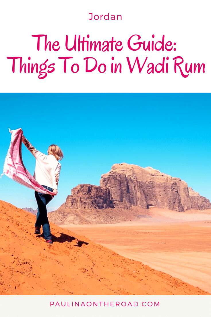 With this Guide on the Best Things To Do in Wadi Rum you make the most of your Jordan holiday. Discover the best Wadi Rum Jordan camps, the best hikes and attractions in Wadi Rum, Jordan. #jordan #wadirum #wadirumjordan #bedouin #desertcamp