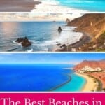 Explore the best beaches in Tenerife, Spain! This guide takes you to volcanic black beaches, golden sand and party, beautiful beaches in Tenerife island. #tenerife #spain #tenerifebeaches #canaryislands #beaches #snorkeling #surfing #hiddenbeaches #sandybeaches #santacruz