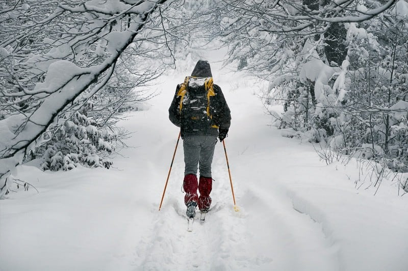 things to do in winter wisconsin, Person Trekking In The Snow