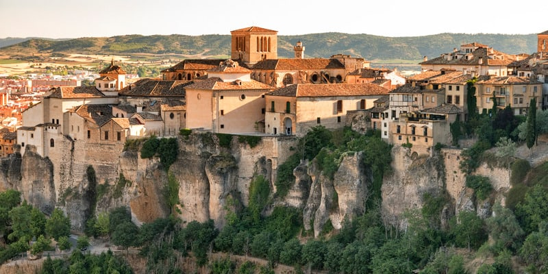 best paradores in spain, cuenca, hanging houses, paradors spain, historic hotels spain,