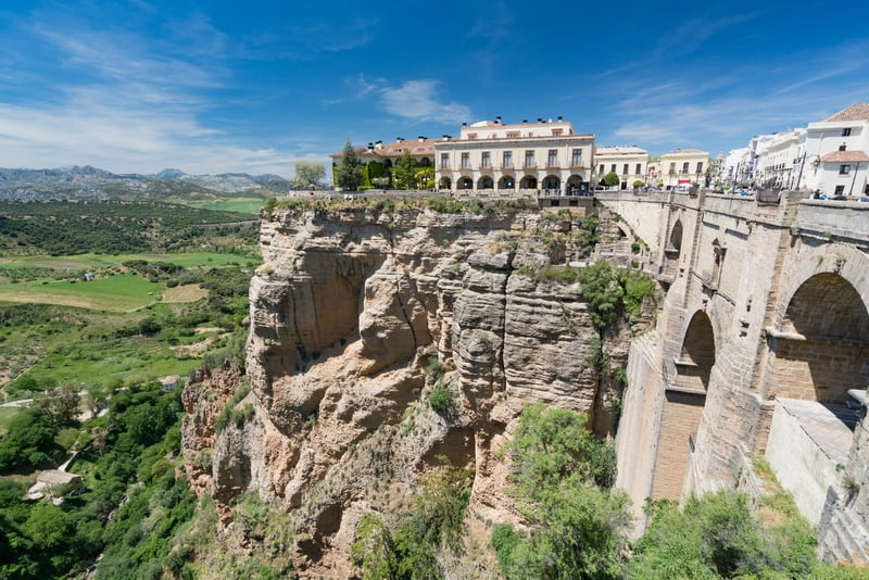 ronda parador view, best paradores in spain, best paradores in andalusia