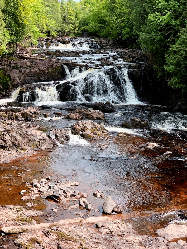 best things to do in wisconsin in winter, Waterfall in Copper Falls State Park Wisconsin
