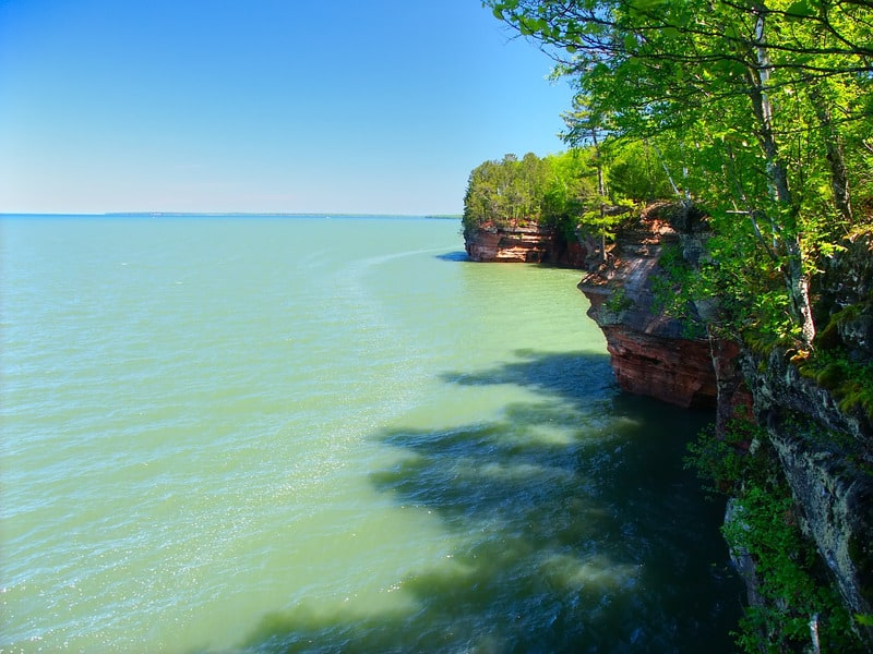 what to do in apostle islands wisconsin, Side view of one Island