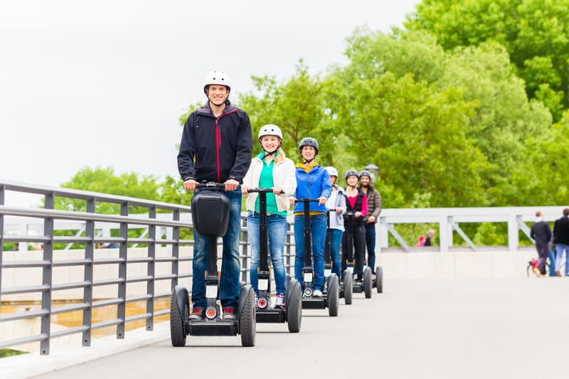 Best things to Do in Door County, WI ,Tourist group driving Segway at sightseeing tour