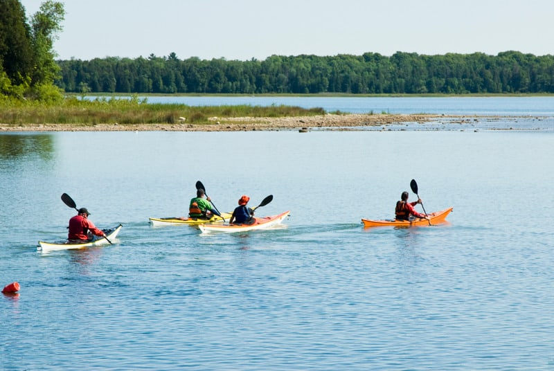 Things to Do in Door County, WI ,kayaking at the annual Door County Kayak Symposium at Rowleys Bay Wisconsin