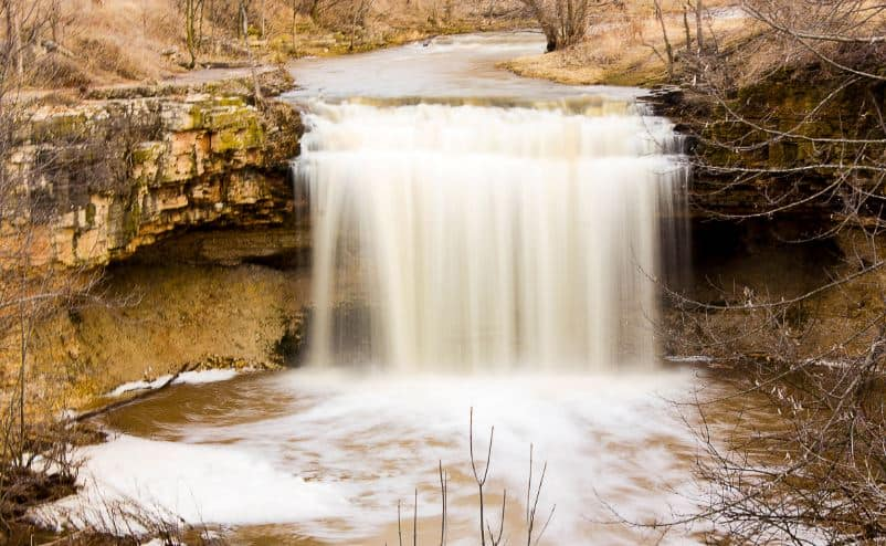 Cool things to do in Green Bay, view of Waterfall Brown County WI Fonferek's Glen