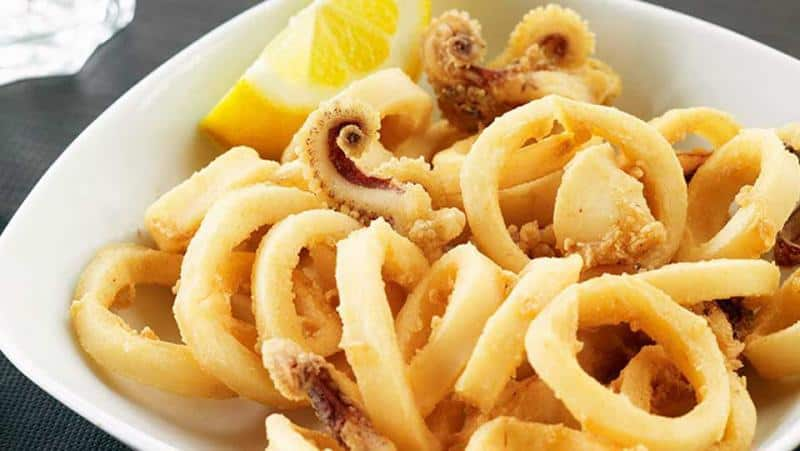 Popular Food from Southern Spain, Calamares a la Andaluza dish