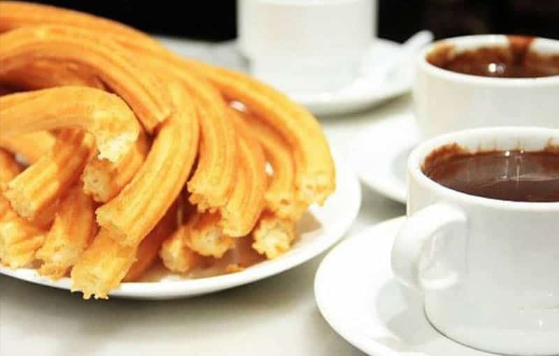 Famous Food from Central Spain, Churros dish from Madrid