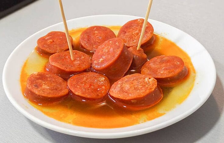 What to eat in Spain, Cider Chorizo dish from Asturias