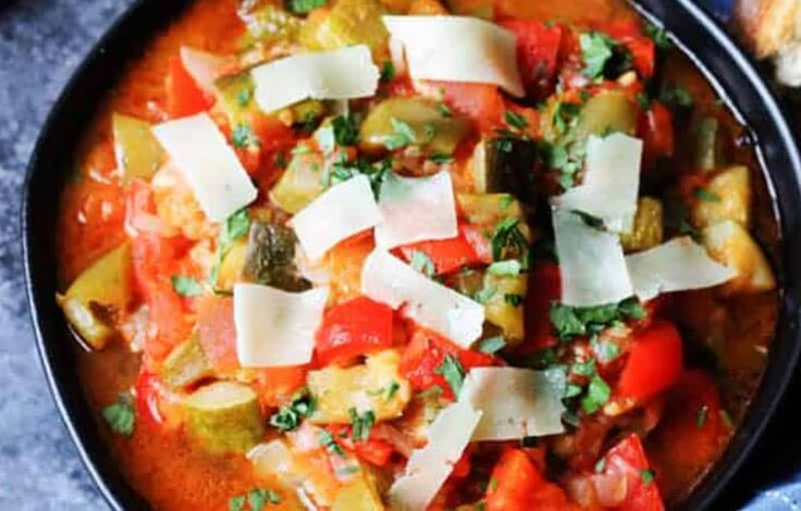 Famous Food from Central Spain, Pisto Manchego dish