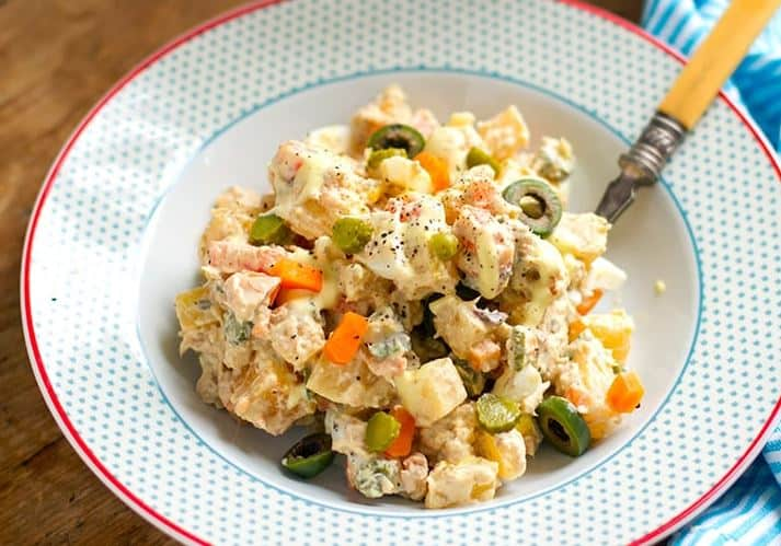 Best food from Spain for kids, Ensalada Rusa