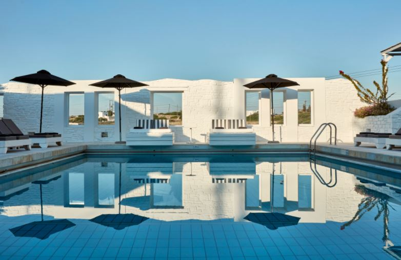 Best Luxury Hotels in Naoussa, Paros, Pool View of hotel Mr and Mrs White Paros