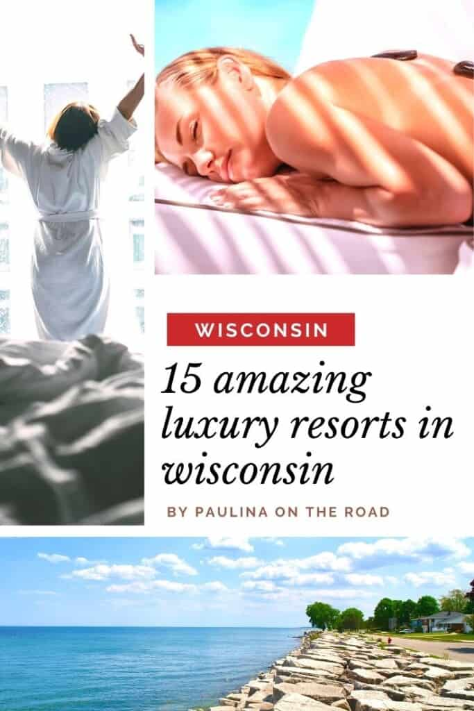 Are you looking for gorgeous resorts in Wisconsin? A selection of the most amazing luxury resorts in Wisconsin incl. lakeside resorts, Wisconsin Dells resorts, amazing Door County lodging resorts and spa resorts in Wisconsin. No matter whether you are looking for luxury accommodation in North or Southern Wisconsin, this list will fulfill your sweetest resort dreams. From luxury homes and gorgeous spa resorts, you're covered! #wisconsin #resortswisconsin #lodgingwisconsin #resortswisconsindells